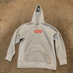 Supreme hoodie grey